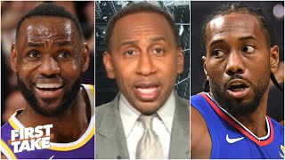 Stephen A. has more faith in LeBron than 'Load-Management Kawhi' to deliver | First Take