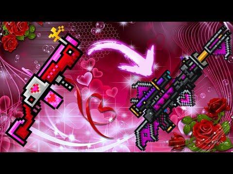 Pixel Gun 3D - Using All Valentine Day Weapons Challenge