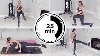 25 Minute Prenatal Bodyweight Workout | Pregnancy Safe Exercises for 1st, 2nd and 3rd Trimesters
