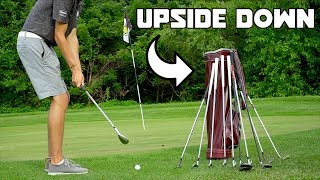 Playing Golf With Left Handed Clubs Upside Down