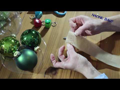Weihnachtsdeko - Weihnachtskugeln - DIY