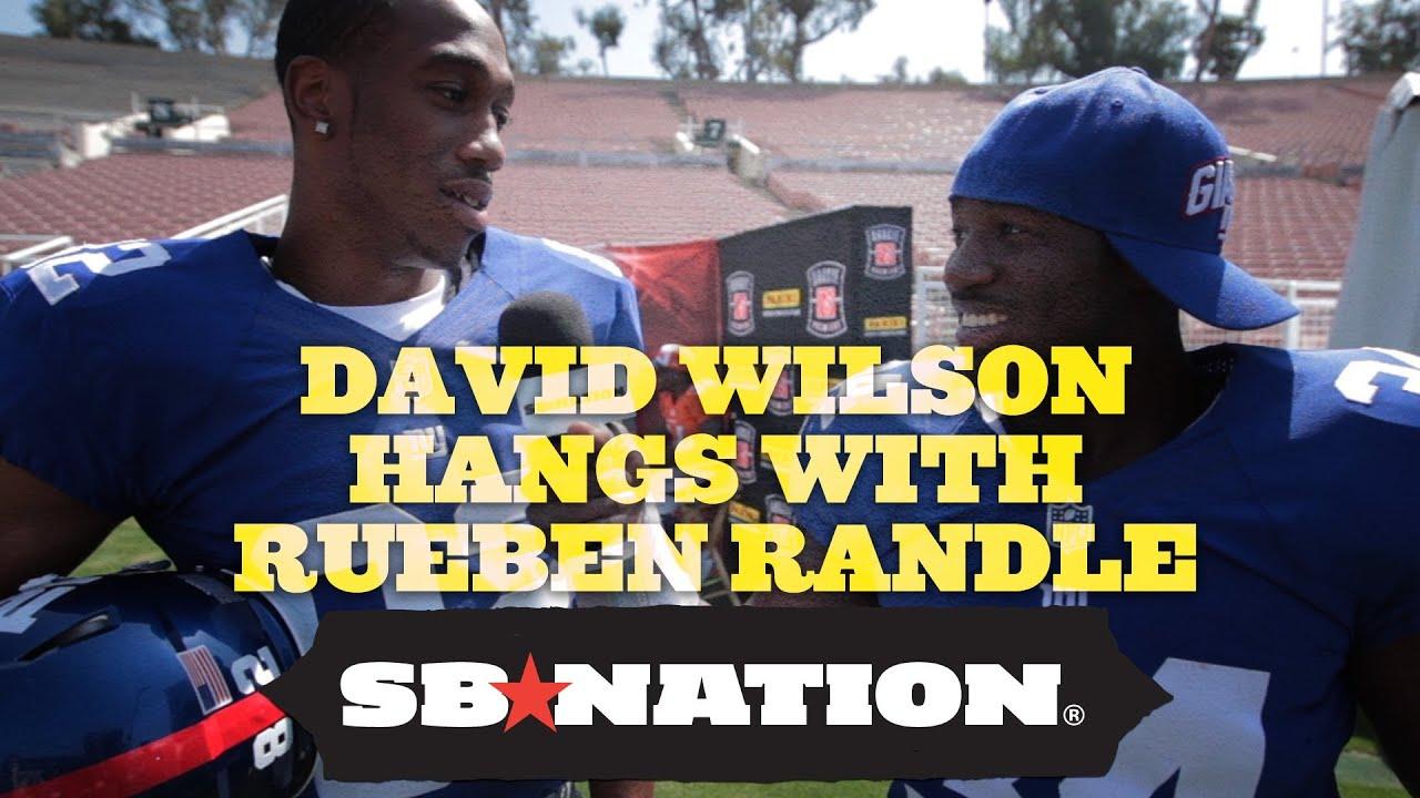 David Wilson Interviews New Teammate Rueben Randle thumbnail