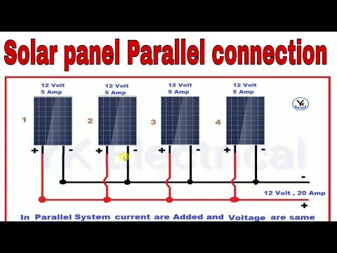 solar panels parallel connections | solar system parallel wiring in hindi  yk electrical