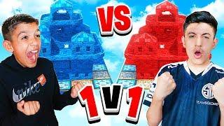 Fortnite Intense Base Wars 1v1 Against 10 Year Old Little Brother!