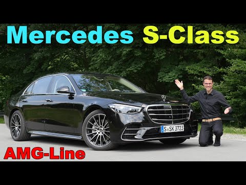 new Mercedes S-Class AMG-Line S500 FULL REVIEW with Autobahn and night driving V223 2022