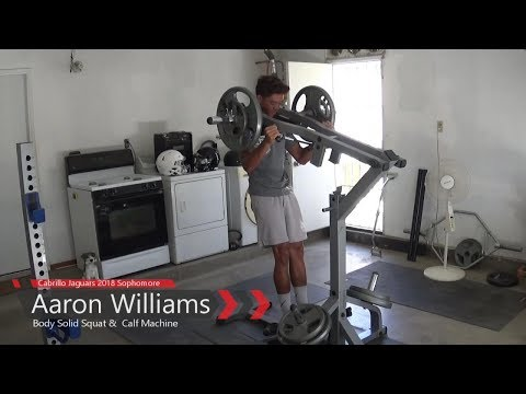 Body-Solid Leverage Squat Calf Machine Demo by Aaron Williams