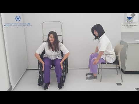 תרגילי פיזיותרפיה לאימון פלג הגוף התחתון בישיבה