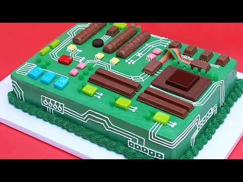 HOW TO MAKE A MOTHERBOARD CAKE - NERDY NUMMIES