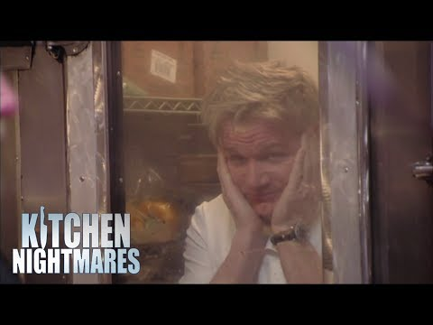 Gordon Hides In A Fridge From Belly Dancers | Kitchen Nightmares