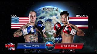[USA VS THAILAND] แสนแสบ KD ชินจ่าว VS WILLIAM WHIPPLE  I MAX MUAY THAI (21-7-2019)  คู่4
