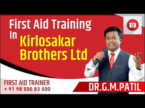 905782ebc414 First aid training in kirlosakar brothers ltd by dr g m patil