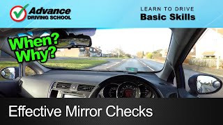 Effective Mirror Checks  |  Learn to drive: Basic skills