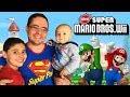 Videogame Em Fam lia New Super Mario Bros Wii Gameplay