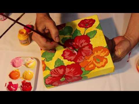 Pintar em tela de tecido