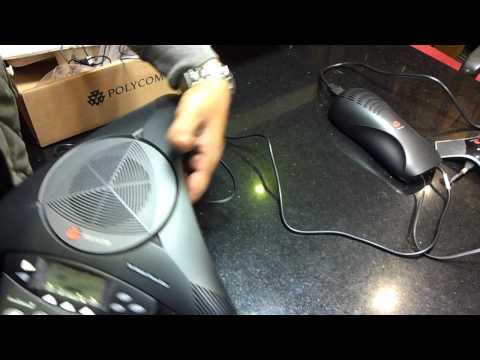 Polycom Soundstation 2 EX w/ 2 x Extension Microphones