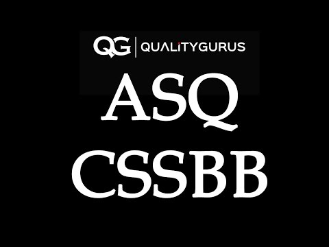 ASQ CSSBB Exam Questions - YouTube