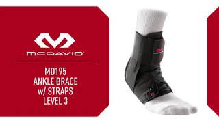 McDavid SportMed – How To Fit MD195 Ankle Brace With Straps