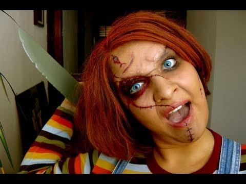 chucky Child's Play Halloween Mörderpuppe Tutorial make up