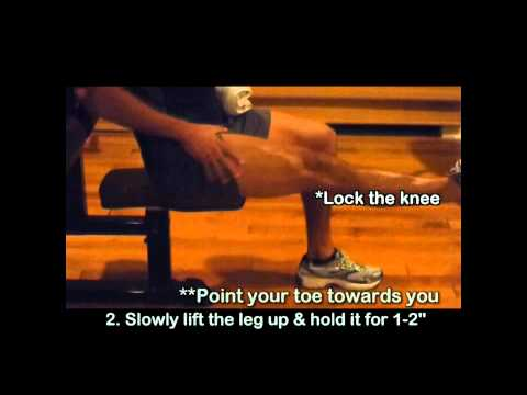 Video Knee Pain Exercises 5 - Bursitis of the Knee Exercise for Swollen Knee