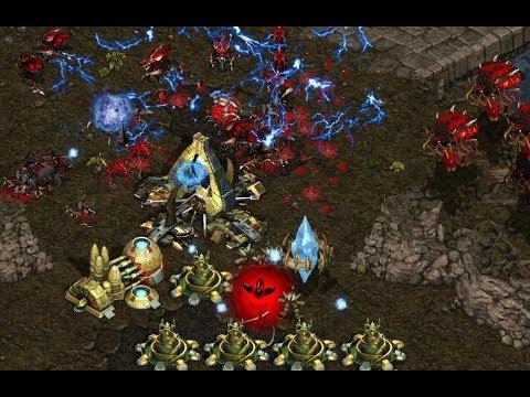 P - Shuttle (P) v Terror (Z) on Fighting Spirit - StarCraft  - Brood War REMASTERED