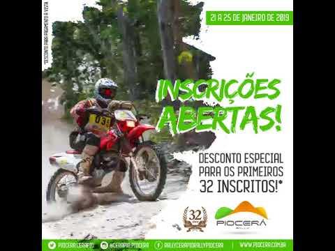 Inscrições abertas para Rally Piocerá 2019.