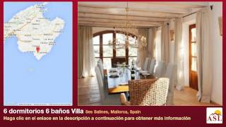 preview picture of video '6 dormitorios 6 baños Villa se Vende en Ses Salines, Mallorca, Spain'