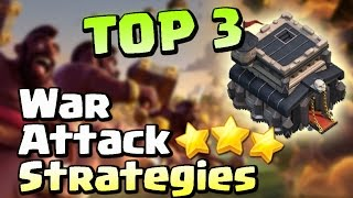 (2017) TOP 3 TH9 BEST WAR ATTACK STRATEGIES! | Clash of Clans