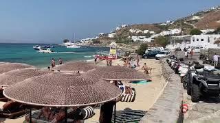 Ornos Beach in the Greece Island of Mykonos