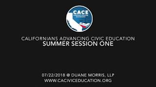 CACE 2018 Summer Session 1