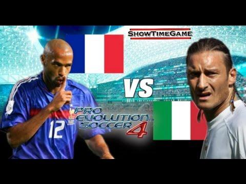 P'TIT DÉLIRE PRO EVOLUTION SOCCER 4 France VS Italie PS2 (EN