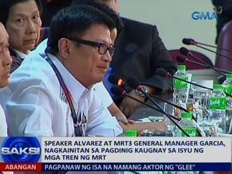 Saksi: Speaker Alvarez at MRT-3 GM Garcia, nagkainitan sa pagdinig