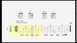 Guitar Tab   Can't Choose   JRDN   Chords with Fingerpicking
