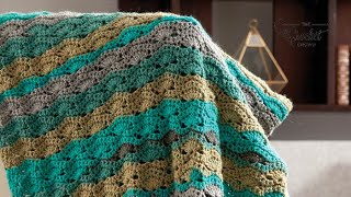 Crochet Caron Cakes Wave Blanket Pattern