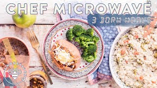 3 Healthier MICROWAVE Dorm Meals - $40 Trader Joes Haul 🤑😋