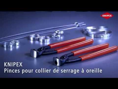 KNIPEX Pinces pour collier de serrage à oreille