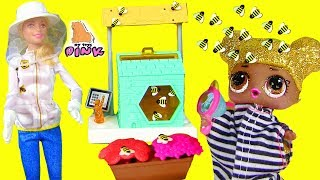 КУКЛА БАРБИ - ПЧЕЛОВОД! ПЧЕЛЫ ПРОТИВ ЛОЛ! Barbie and the Bees! Игры для Детей! Video for Kids