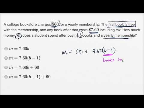 Linear function word problems — Basic example (video) | Khan ...