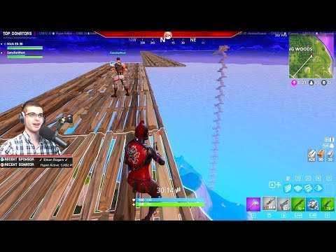 Jumping from the Sky onto a Launch Pad! (Nick Eh 30's BEST Fortnite Moments #2)