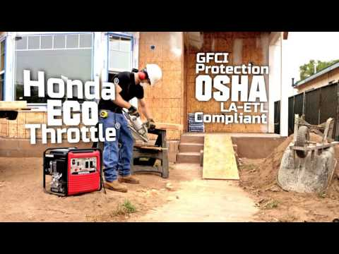 Honda Power Equipment EB2800i with CO-MINDER in Tampa, Florida - Video 1