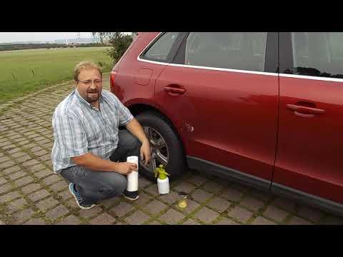 Bitumen- und Teerflecken vom Autolack und Kunstoffteilen entfernen - einfach auch ohne Teerentferner