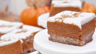 Frosted Paleo Pumpkin Pie Bars