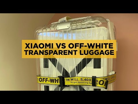 XIAOMI TRANSPARENT LUGGAGE ($90) vs OFF-WHITE RIMOWA ($2200)