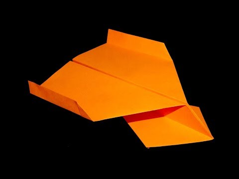 Biplane glider (How to make a paper airplane, one of the