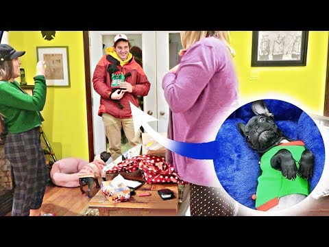 SURPRISING MOM WITH FRENCH BULLDOG PUPPY For Christmas 2017! | Vlogmas Day 18