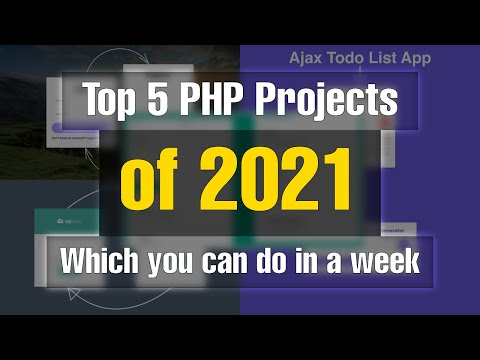 Top 5 PHP projects of 2021 | Which you can do in a week | For GitHub Projects