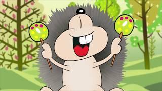 Мультфильм Четыре Ежика - детская песенка - Наталия Лансере   Four hedgehogs children songs