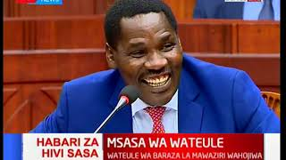 Peter Munya makes MPs vetting him crack into laughter with the word 'Pkosing'
