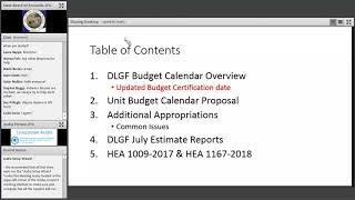 Budget Workshop Morning Session 6 19 2018