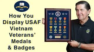 Air Force Vietnam Veterans Medals And Badges Displays.