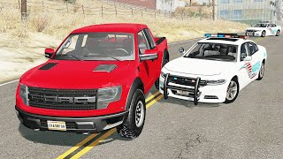 Realistic Police Chases #24 - BeamNG drive (4K)